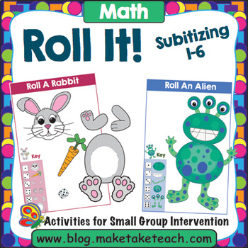 Roll It! Subitizing Numbers 1-6