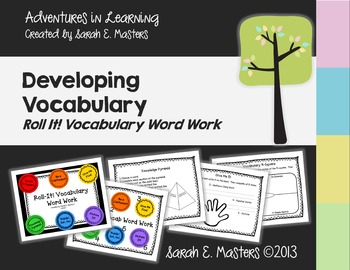 Roll It! Vocabulary Word Work Center or Workstation