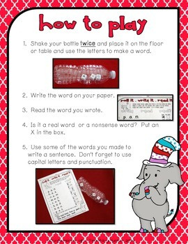Roll It!  Write It!  Read It! - A CVC Literacy Center