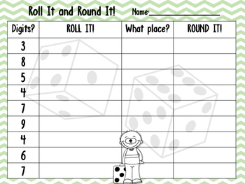 Roll It and Round It Game!
