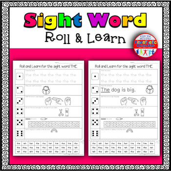 Sight Word Activities - Roll & Learn: Pre-Primer Edition