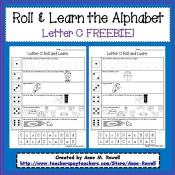 Alphabet Activity - Roll & Learn Letter Sounds - C