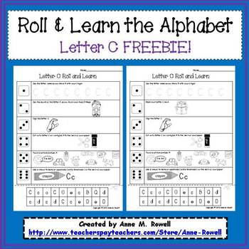 Alphabet Activity - Roll & Learn Letter Sounds - C