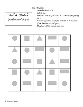 Roll & Match Bundle (Numbers to 20, shapes, subitizing)