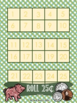 Roll Me The Money - coin counting game boards