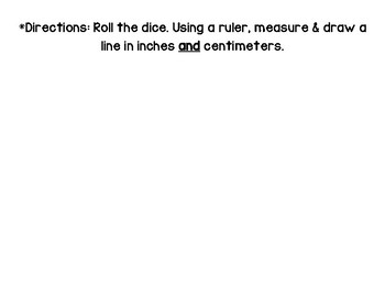 Roll & Measure Length - Inches & Centimeters