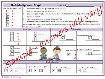 Roll Multiply and Graph Game - the Game that is always different!