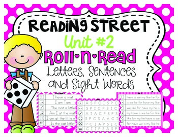 Roll-N-Read {Kindergarten Reading Street Unit #2}