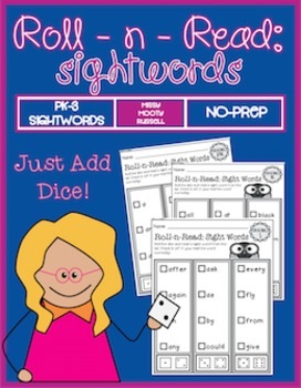 Roll-N-Read Sightwords PK-3 {No-Prep!)