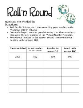 Roll N' Round Math Station