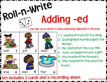 Roll-n-Write Adding -ed