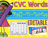 Roll-N-Write CVC Words {Editable}