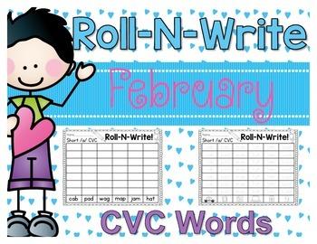 Roll-N-Write CVC Words {February}