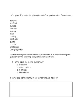Roll Of Thunder Comprehension Packet