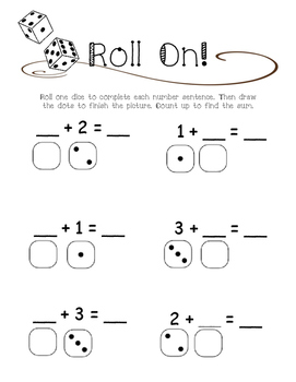 Roll On - Fact Fluency Count On Game FREEBIE