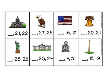 Roll, Order, and Keep:  LOW PREP America Themed Roll, Say, Keep Number Activity