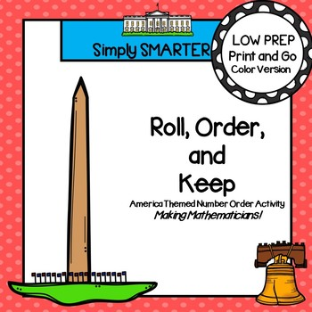 LOW PREP America Themed Roll, Say, Keep Number Activity