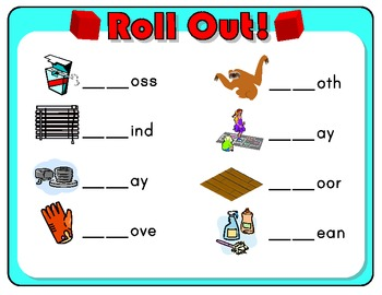 Roll Out! Phonics Dice Game for L Blends