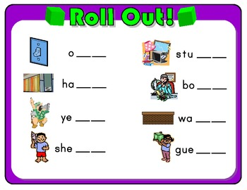 Roll Out! Phonics Dice Game for Words Ending in Double S, L, F, and Z