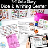Roll a Story Dice Writing Center: Print and Digital Google Slides