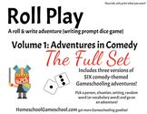 Roll Play Printable Game  (kiddle & high school writing & vocab)
