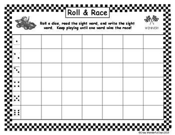 Roll & Race - Fry's 100 Sight Words - Full Version