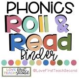 PHONICS Roll & Read Board Games & Binder