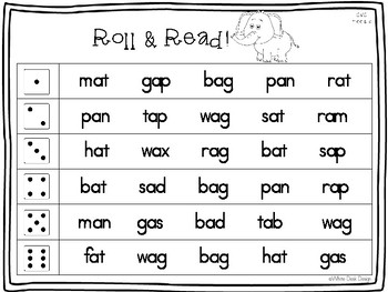 Roll & Read: CVC Words!