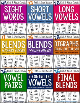 Word Study - Roll & Read Cards BUNDLE