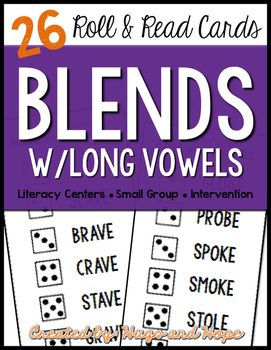 Roll & Read Cards - Blends w/Long Vowels