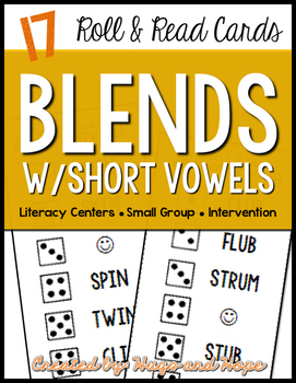 Roll & Read Cards - Blends w/Short Vowels