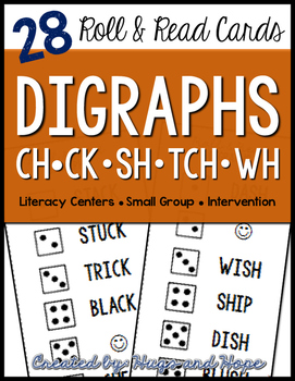 Roll & Read Cards - Digraphs