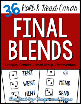 Roll & Read Cards - Final Blends