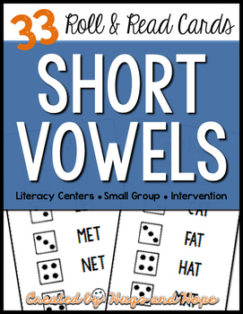 Roll & Read Cards - Short Vowels