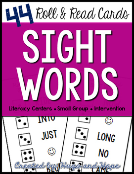 Roll & Read Cards - Sight Words