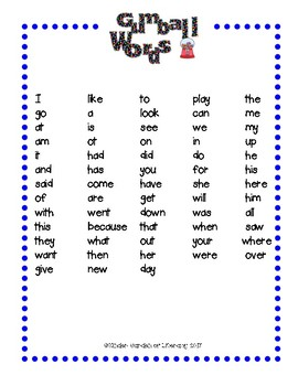Roll-Read-Check-Reading CVC and Gumball Sight Words