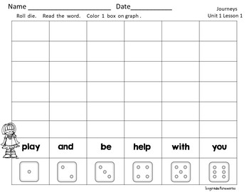 Roll, Read, Color    180 Sight Words   First Grade
