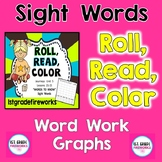 Roll, Read, Color |  180 Sight Words | First Grade