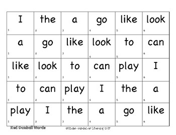 Roll-Read-Color-Gumball Sight Words
