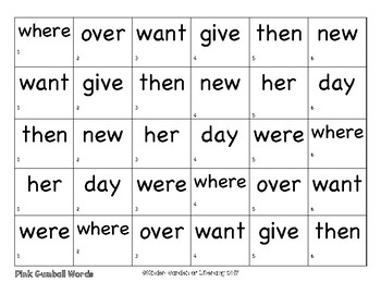 Sight Words Roll-Read-Color