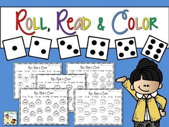 Roll, Read, Color - Sight Words Practice