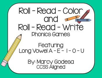 Roll Read Color and Roll Read Write {Long Vowel}