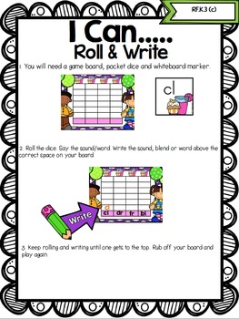 Roll & Read (Editable) Games