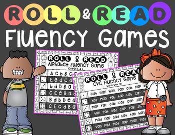 Roll & Read Fluency Games