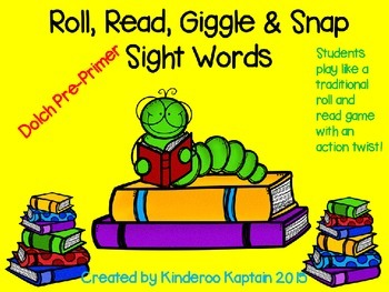 Roll, Read, Giggle & Snap Pre-Primer Dolch Words