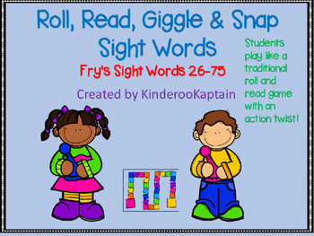 Roll Read Giggle and Snap Fry Sight Words 26-75
