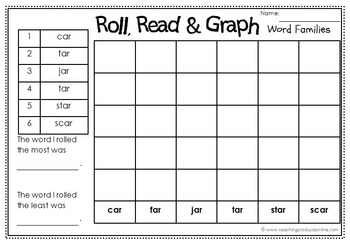 Roll, Read & Graph - Word Families