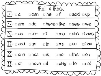 Roll & Read : Guided Reading Center Activity