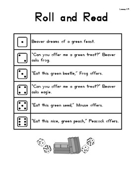 Roll & Read Harcourt Storytown 1st Grade Lessons 19-24