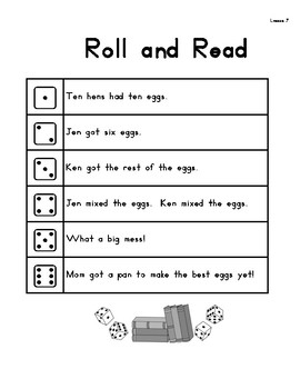 Roll & Read Harcourt Storytown 1st Grade Lessons 7-12